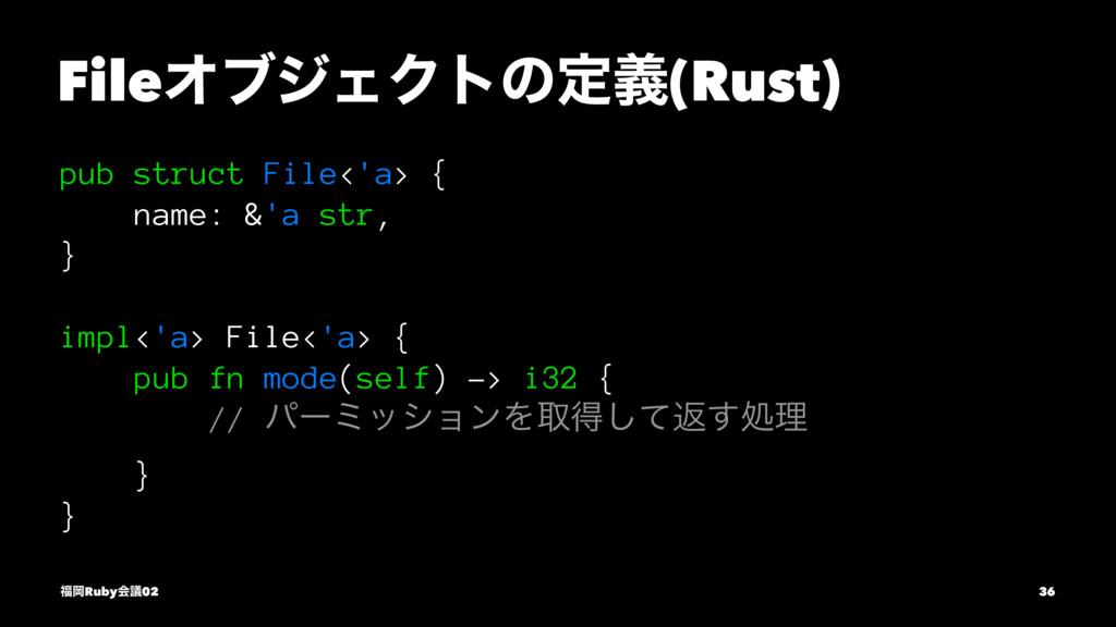 FileΦϒδΣΫτͷఆٛ(Rust) pub struct File<'a> { name:...