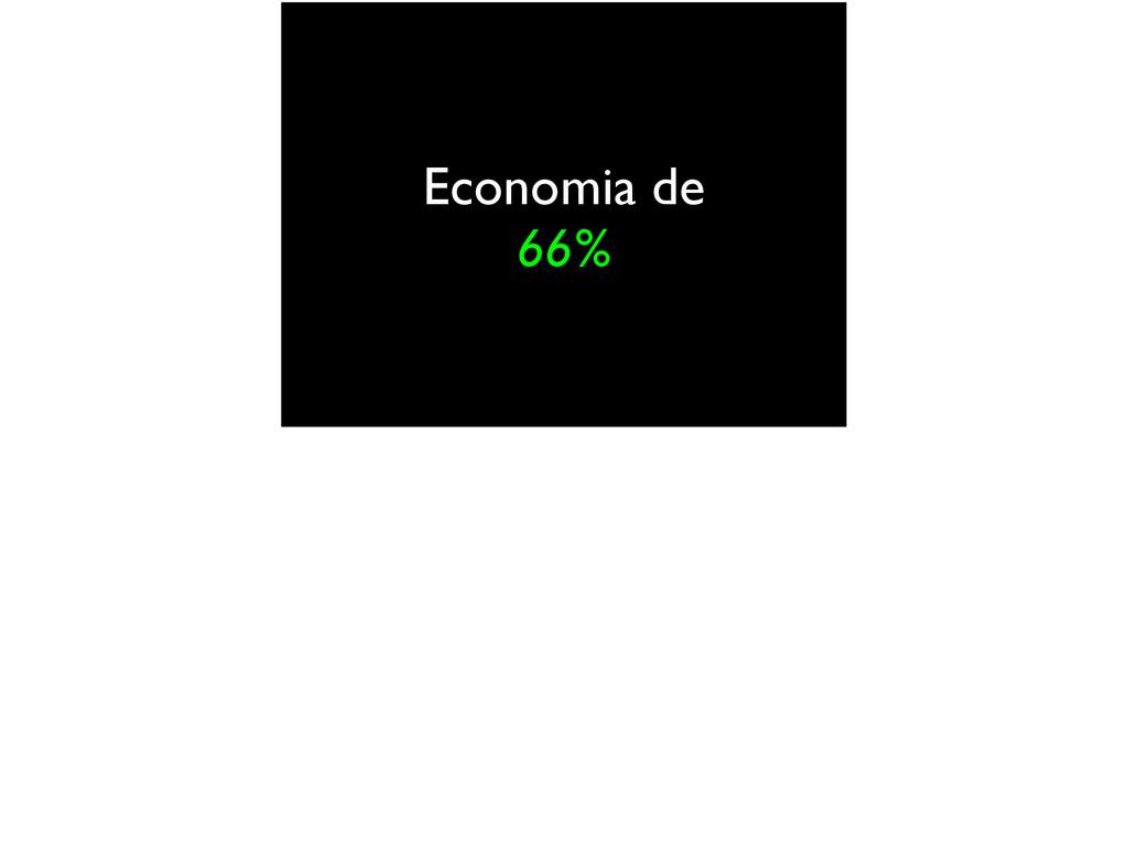 Economia de 66%