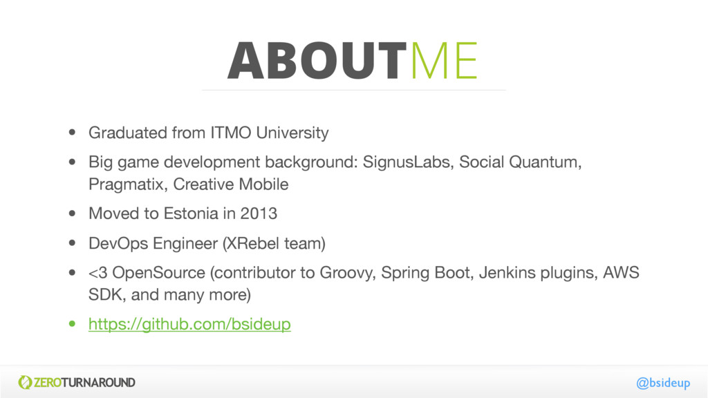 ABOUTME • Graduated from ITMO University  • Big...