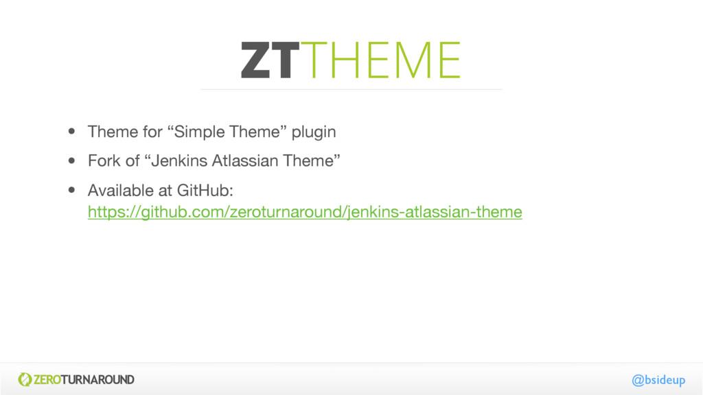 """ZTTHEME @bsideup • Theme for """"Simple Theme"""" plu..."""