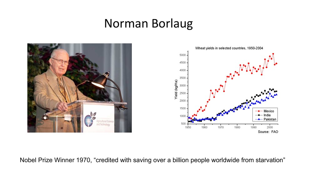 "Norman Borlaug Nobel Prize Winner 1970, ""credit..."