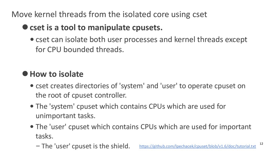Move kernel threads from the isolated core usin...