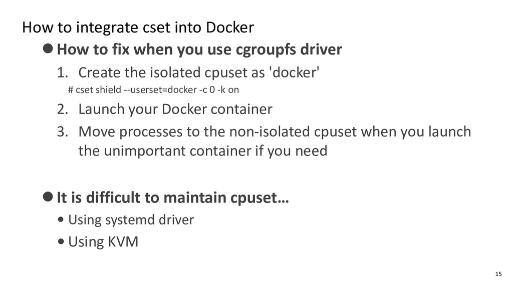 How to integrate cset into Docker ⚫How to fix w...