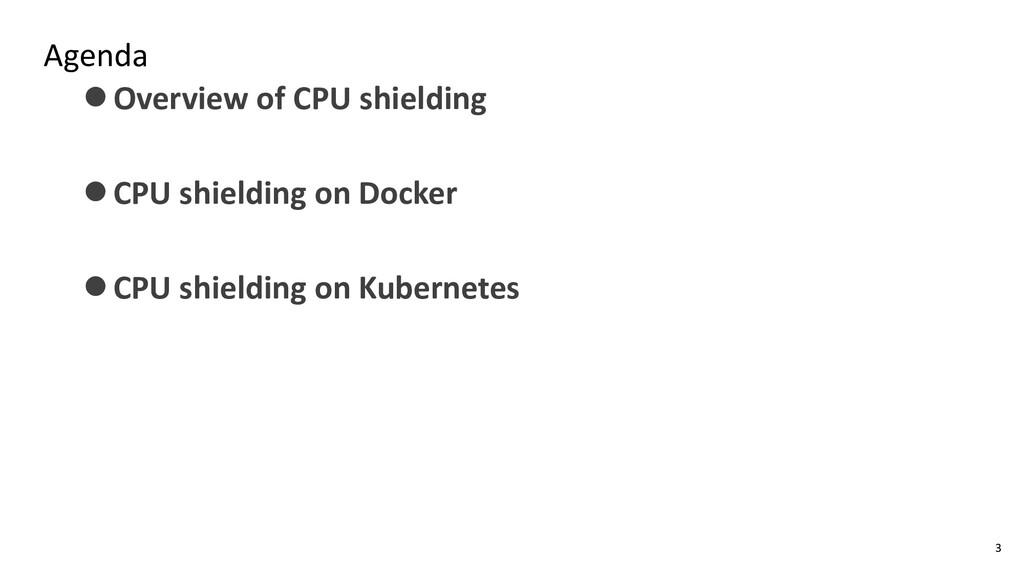 Agenda ⚫Overview of CPU shielding ⚫CPU shieldin...