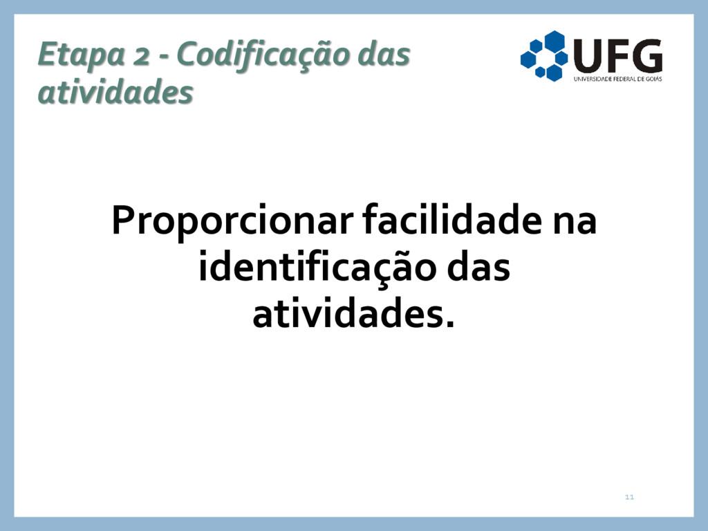 Etapa 2 - Codificação das atividades Proporcion...