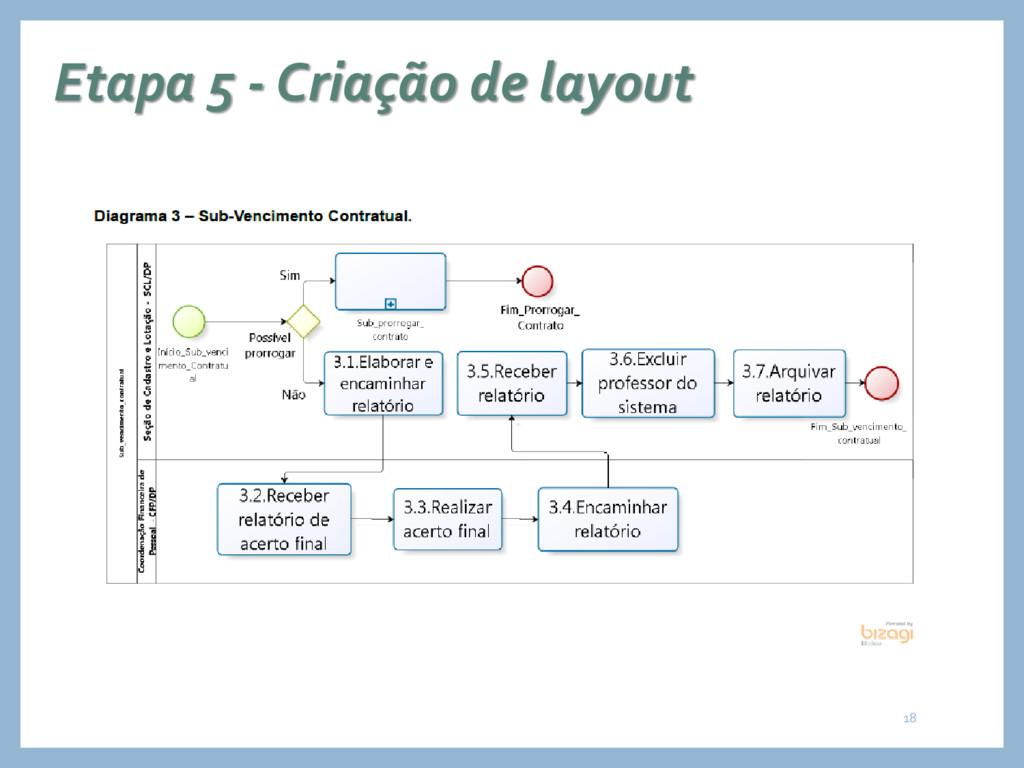 Etapa 5 - Criação de layout 18