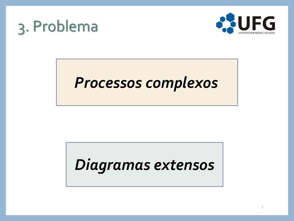 3. Problema Processos complexos; Diagramas exte...
