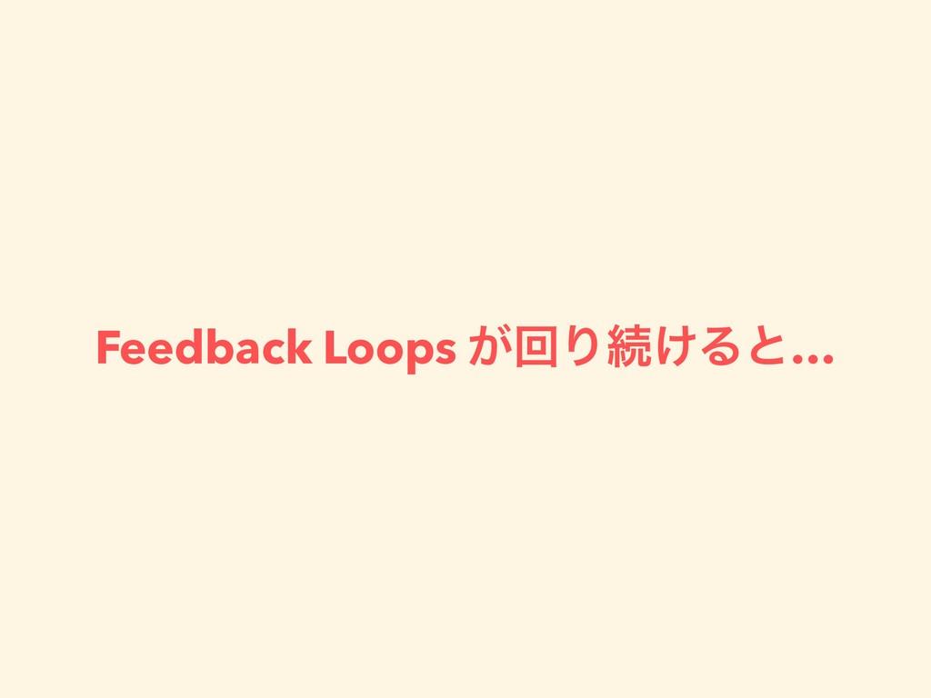 Feedback Loops ͕ճΓଓ͚Δͱ…