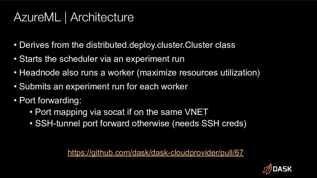AzureML | Architecture • Derives from the distr...