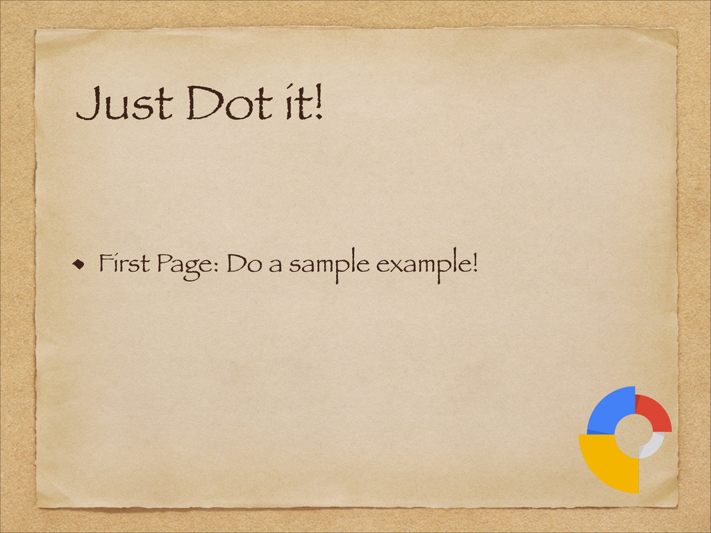 First Page: Do a sample example! Just Dot it!