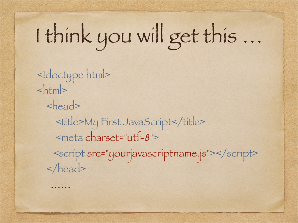 <!doctype html> <html> <head> <title>My First J...