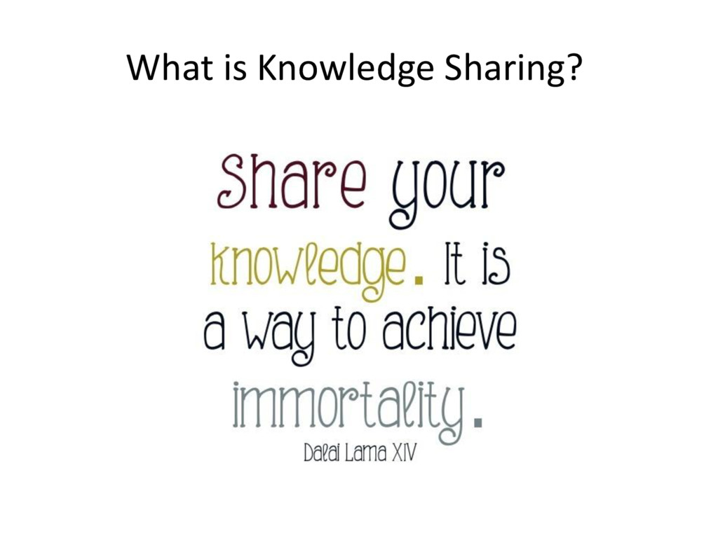 What is Knowledge Sharing?