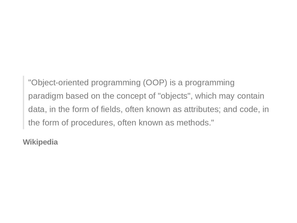 """Objectoriented programming (OOP) is a program..."