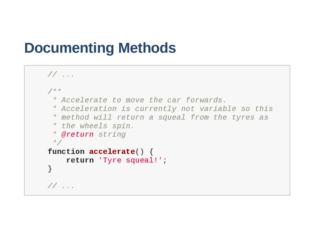 Documenting Methods / / . . . / * * * A c c e l...