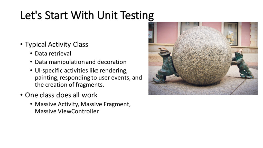Let's Start With Unit Testing • Typical Activit...