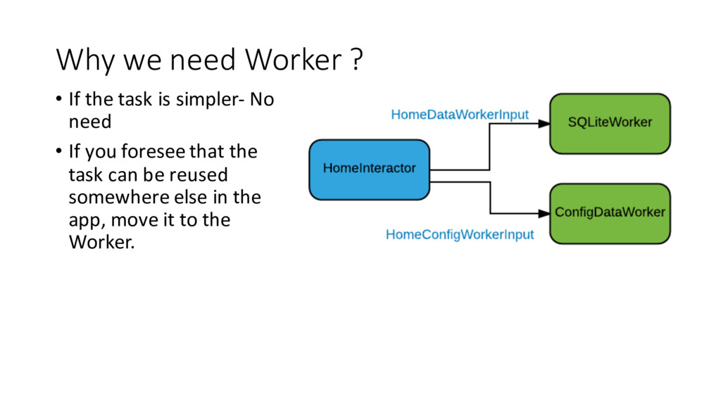 Why we need Worker ? • If the task is simpler- ...