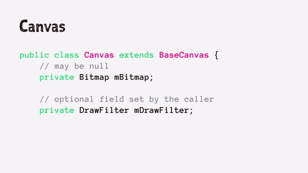 Canvas public class Canvas extends BaseCanvas {...