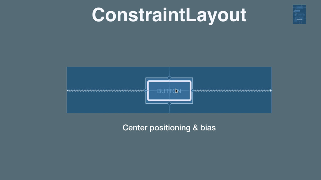ConstraintLayout Center positioning & bias