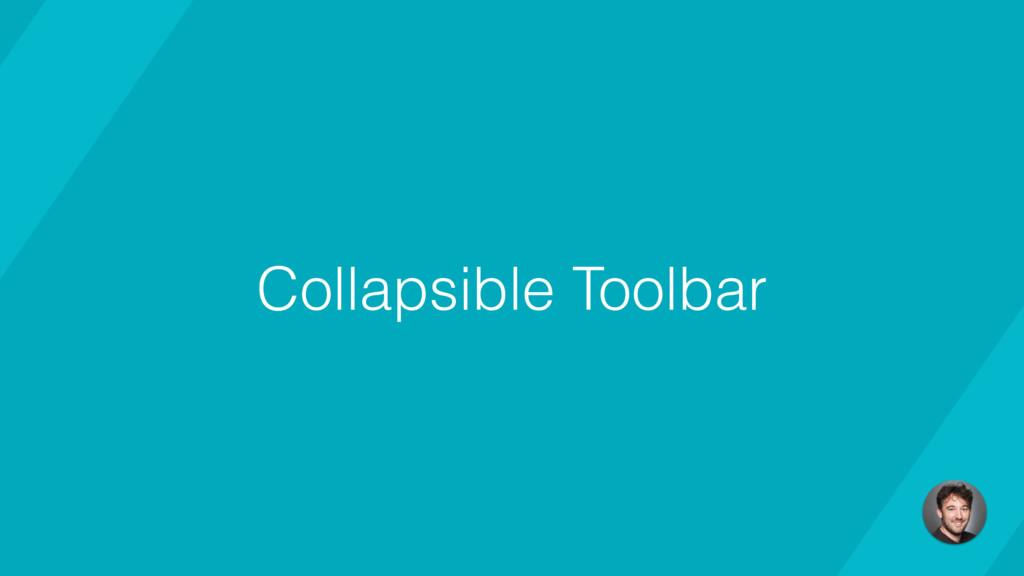 Collapsible Toolbar