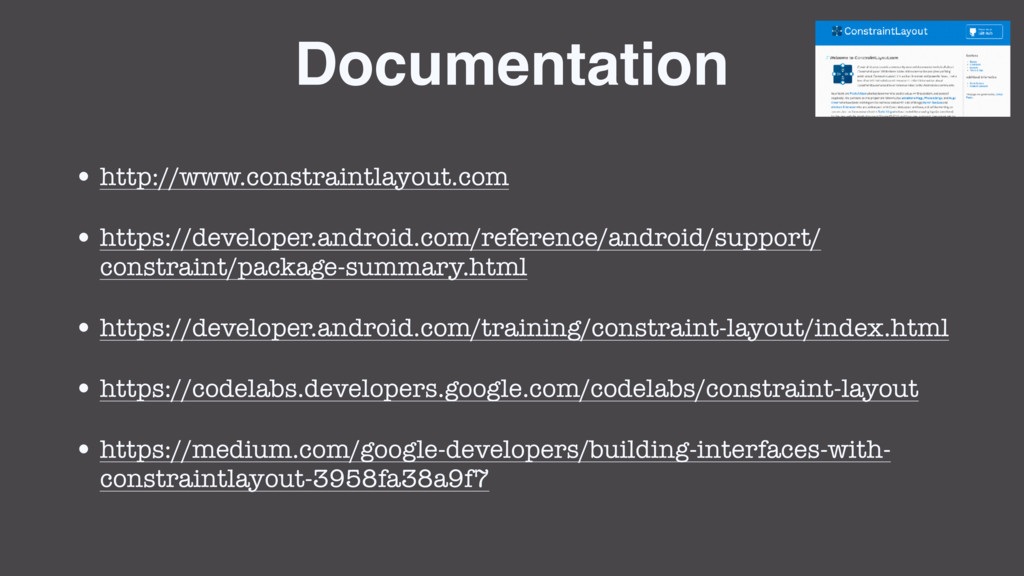 Documentation • http://www.constraintlayout.com...