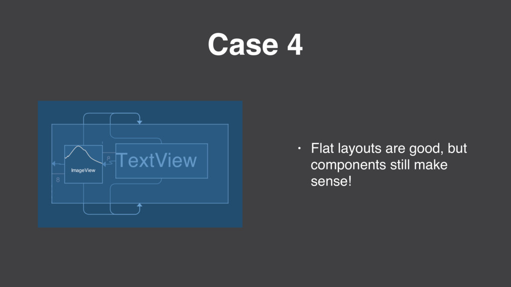Case 4 • Flat layouts are good, but components ...