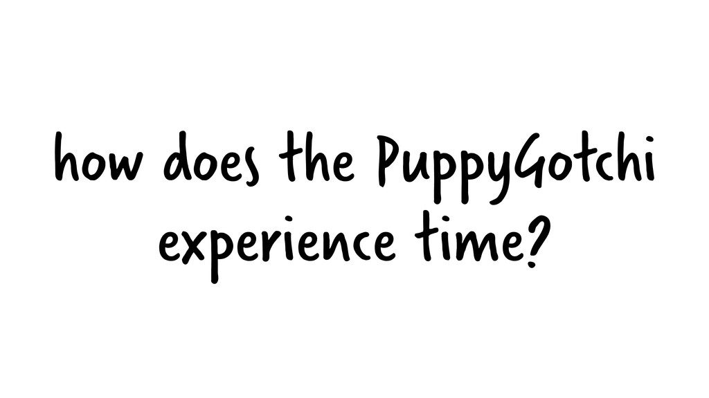 how does the PuppyGotchi experience time?