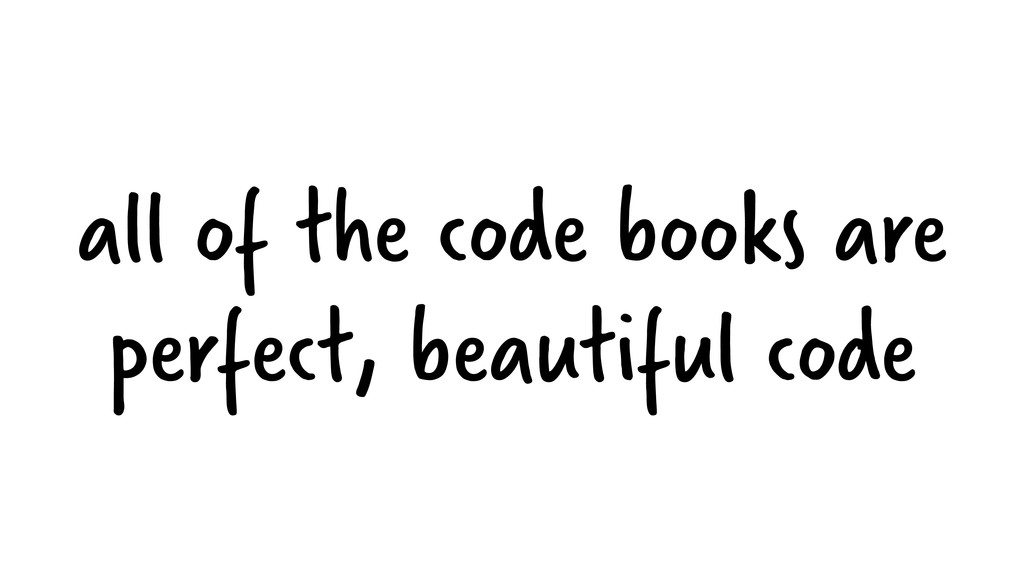 all of the code books are perfect, beautiful co...