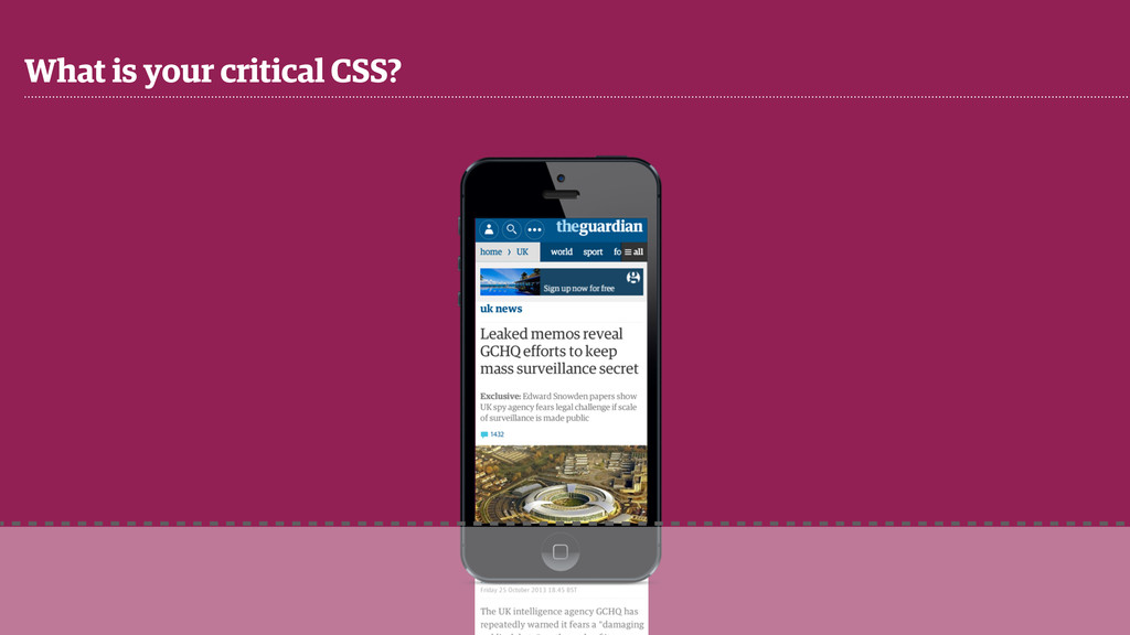 What is your critical CSS?