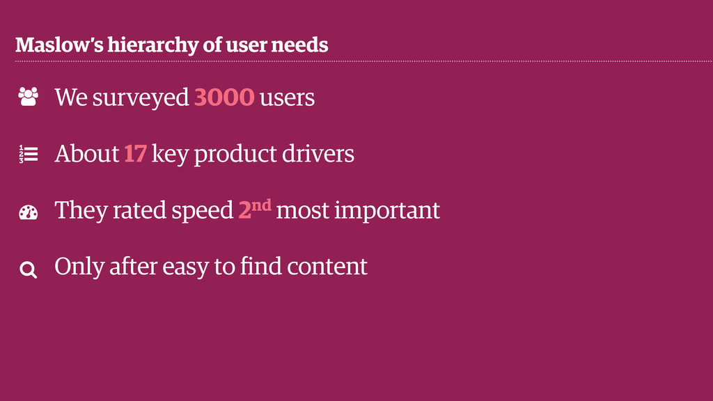 Maslow's hierarchy of user needs ! % & ' We sur...