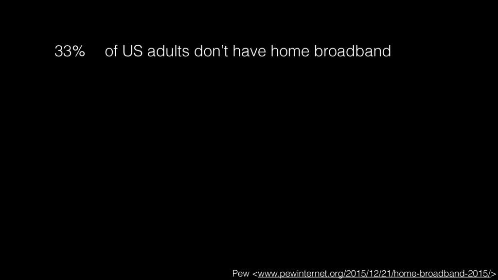 33% of US adults don't have home broadband Pew ...