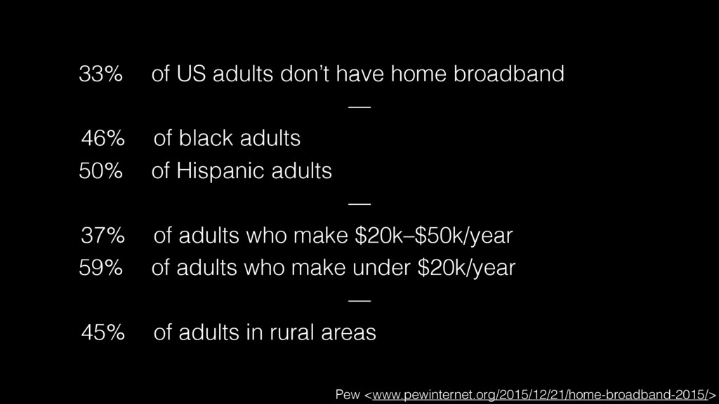 33% of US adults don't have home broadband —