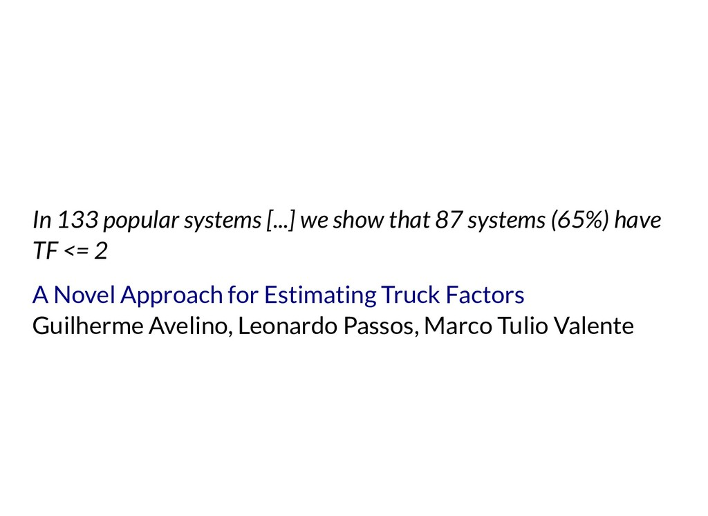 In 133 popular systems [...] we show that 87 sy...