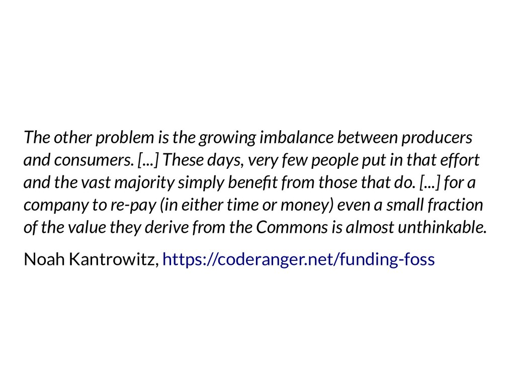 The other problem is the growing imbalance betw...