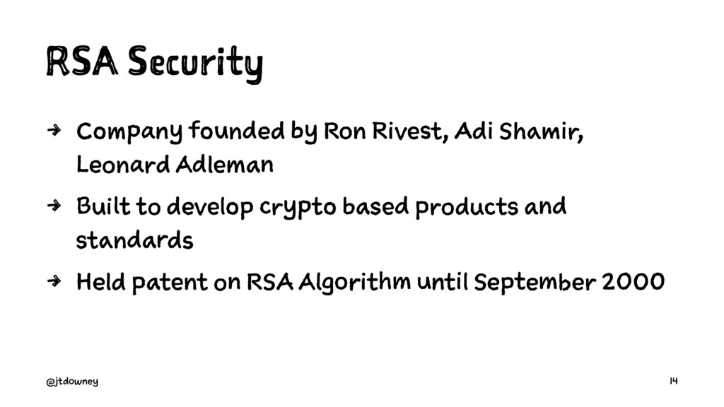 RSA Security 4 Company founded by Ron Rivest, A...