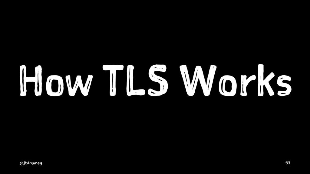 How TLS Works @jtdowney 53