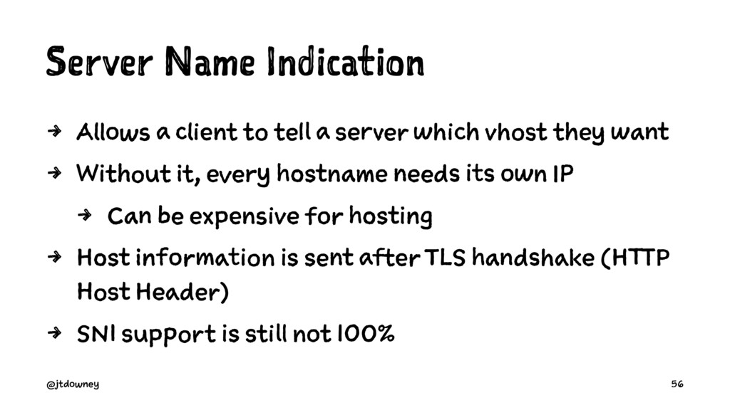 Server Name Indication 4 Allows a client to tel...