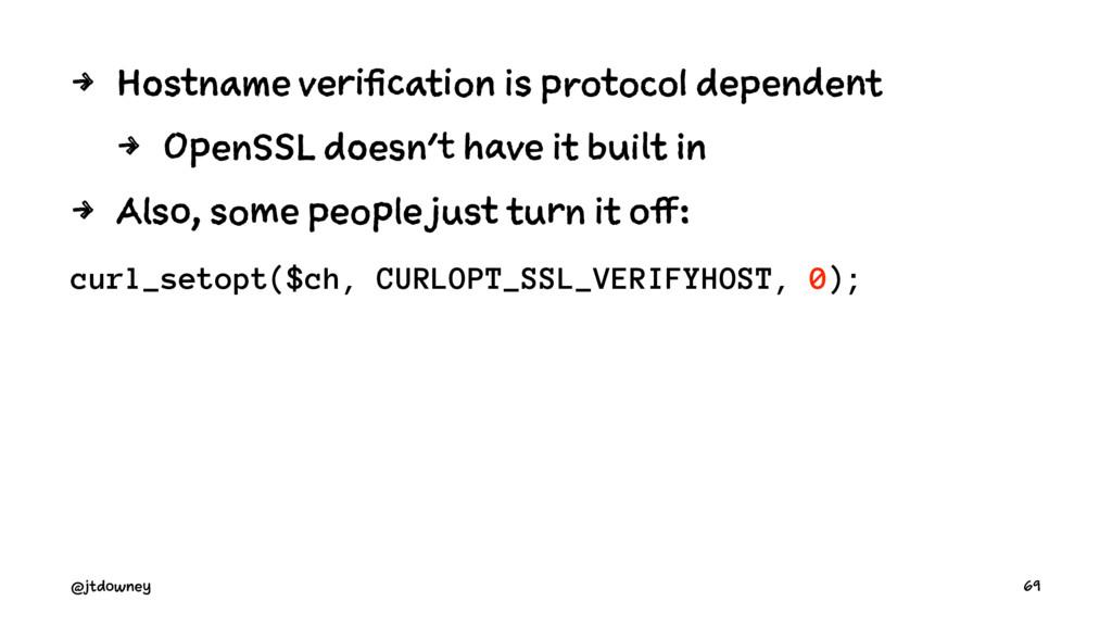 4 Hostname verification is protocol dependent 4...