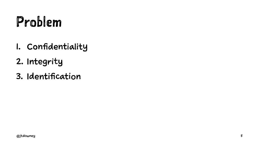 Problem 1. Confidentiality 2. Integrity 3. Iden...