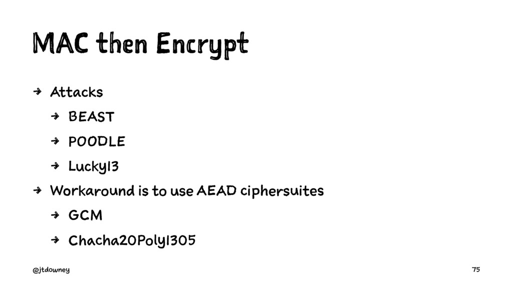 MAC then Encrypt 4 Attacks 4 BEAST 4 POODLE 4 L...
