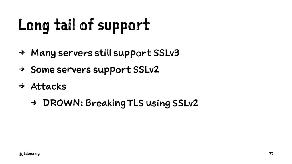 Long tail of support 4 Many servers still suppo...