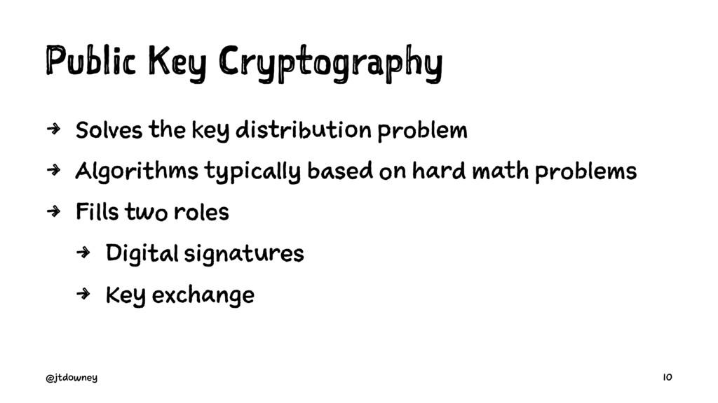 Public Key Cryptography 4 Solves the key distri...