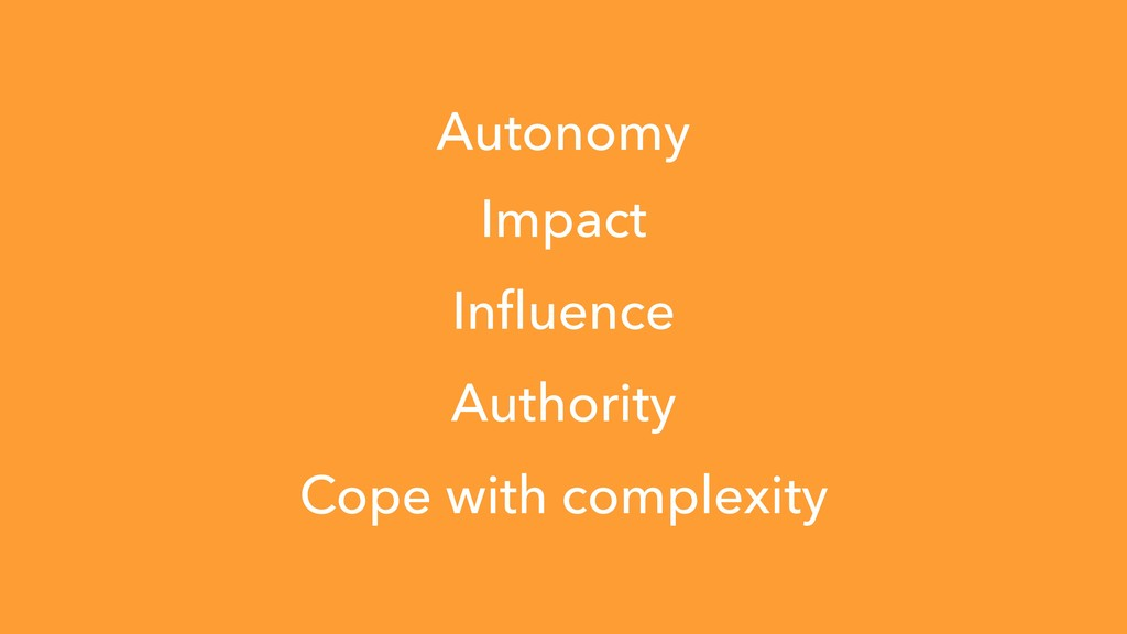 Impact Influence Authority Cope with complexity ...