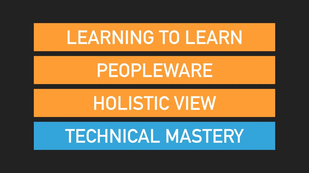 PEOPLEWARE TECHNICAL MASTERY HOLISTIC VIEW LEAR...