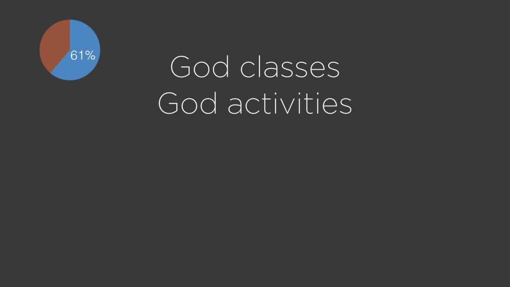 God classes God activities 61%