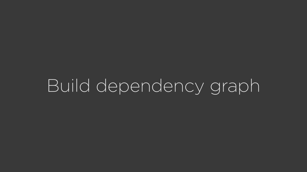 Build dependency graph