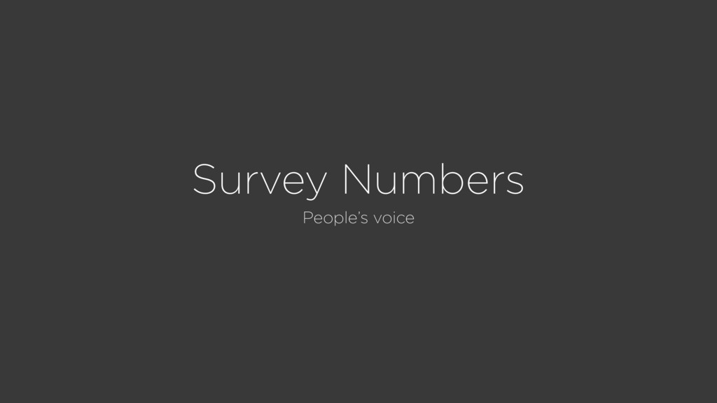 Survey Numbers People's voice