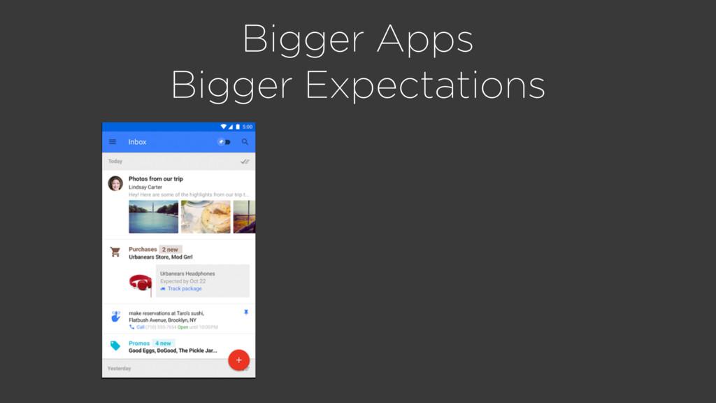 Bigger Apps Bigger Expectations