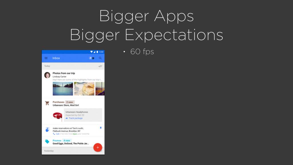 Bigger Apps Bigger Expectations • 60 fps