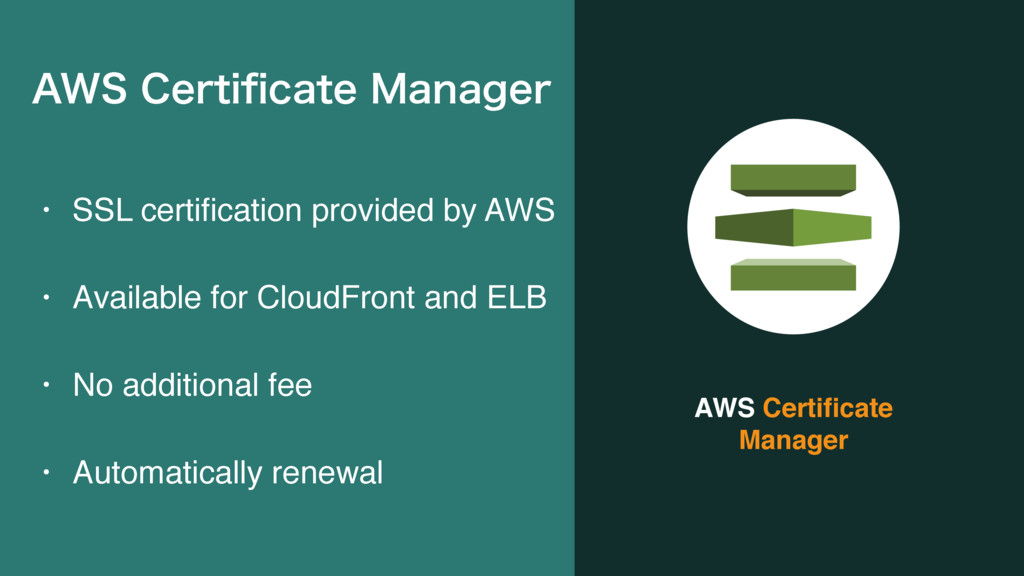 AWS Certificate Manager • SSL certification provi...