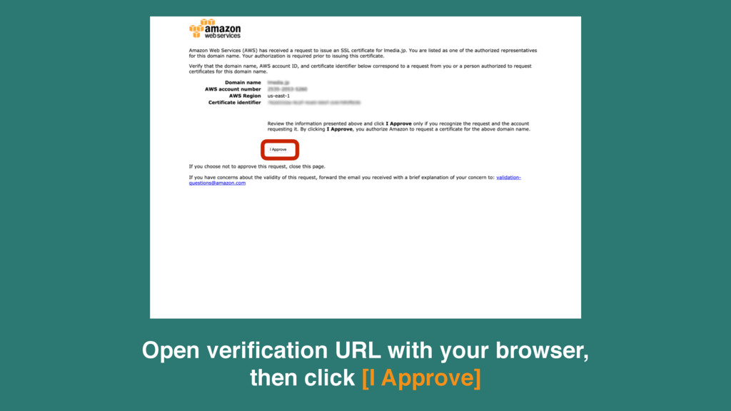Open verification URL with your browser, 